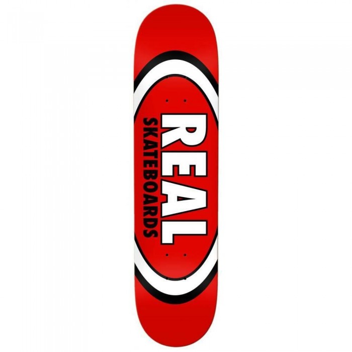 """Real Team Classic Oval Skateboard Deck Red 8.12"""""""