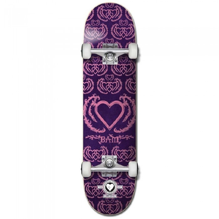 """Heart Supply United  Pro Factory Complete Skateboard Purple Pink 7.75"""""""