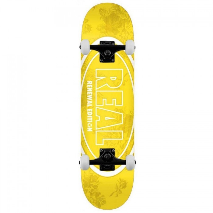 Real Floral Renewal Complete Skateboard Yellow 7.75""