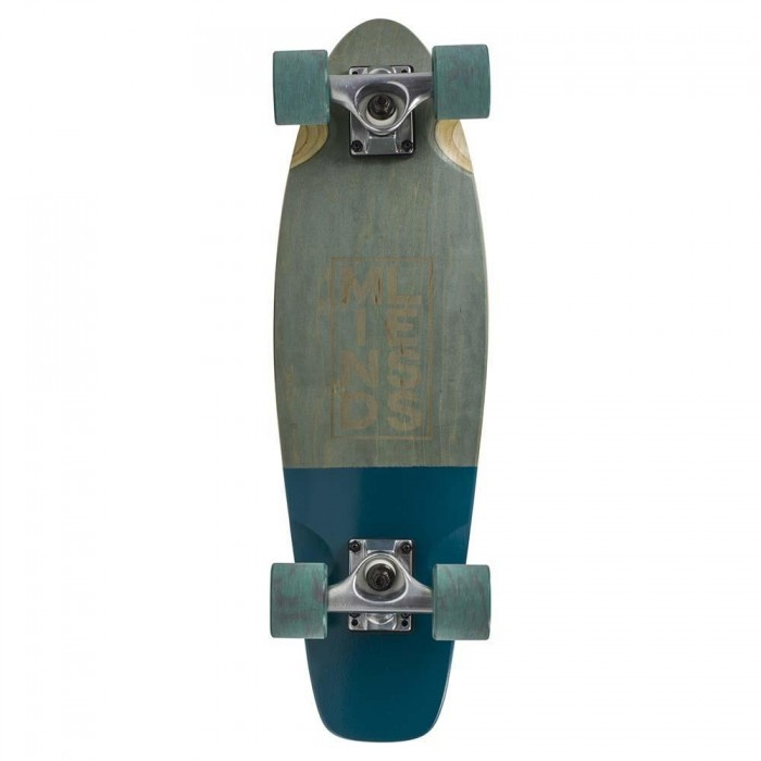 """Mindless Stained Daily III Factory Complete Cruiser Skateboard Grey 7"""" x 24"""""""