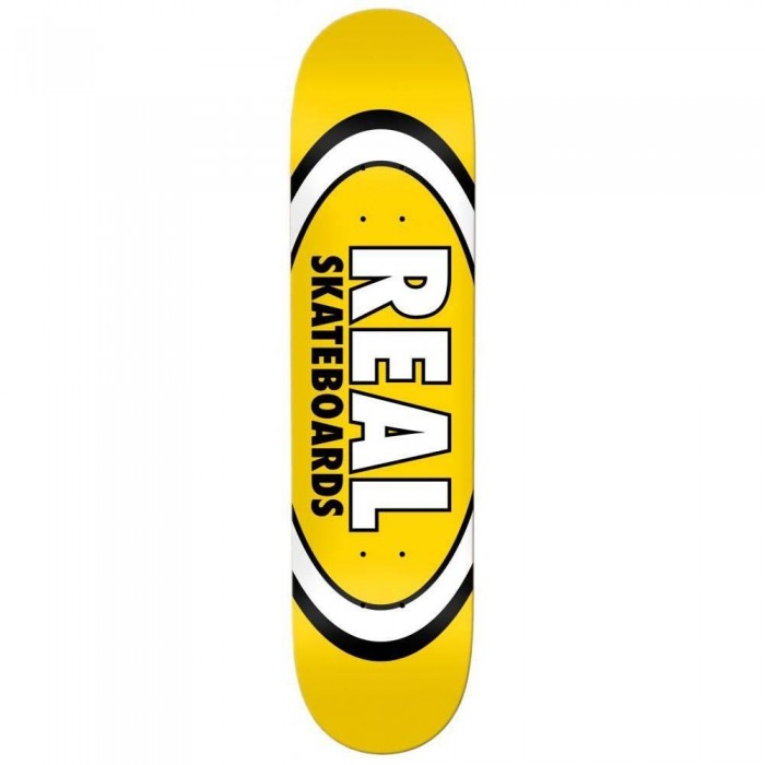 """Real Team Classic Oval Skateboard Deck Yellow 8.06"""""""