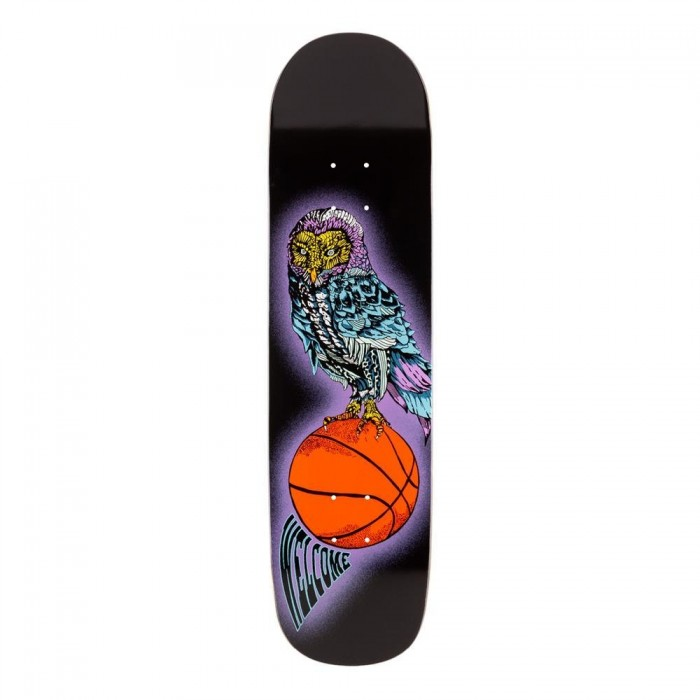 Welcome Skateboards Hooter Shooter on Bunyip Mid Skateboard Deck Black 8.25""