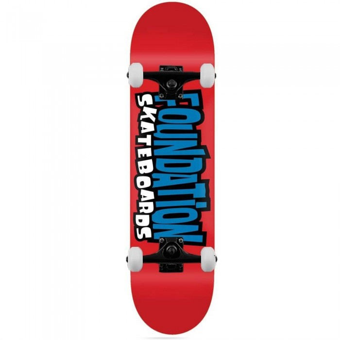Foundation From the 90's Complete Skateboard Red 8""