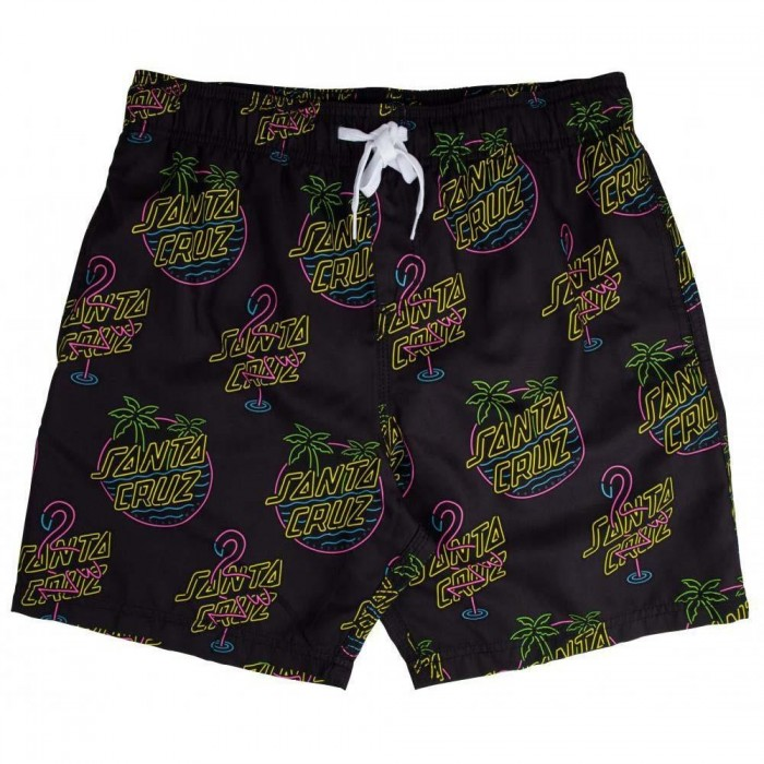 Santa Cruz Shorts Glow Swimshort Black