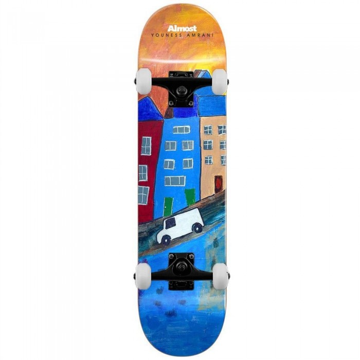 """Almost Youness Places Complete Skateboard Right Multi 8.25"""""""