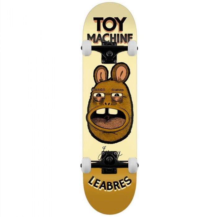 """Toy Machine Leabres Pen N Ink Complete Skateboard Cream 8.25"""""""