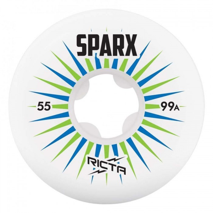 Ricta Wheels Sparx Skateboard Wheels 99a White 55mm