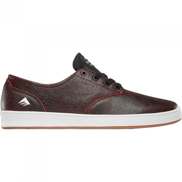 Emerica Footwear The Romero Laced Black Red Black Skate Shoes
