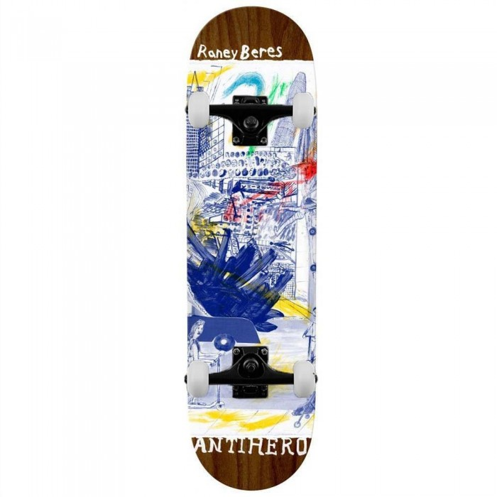 """Anti Hero Beres Sf Then And Now Complete Skateboard Multi 8.12"""""""