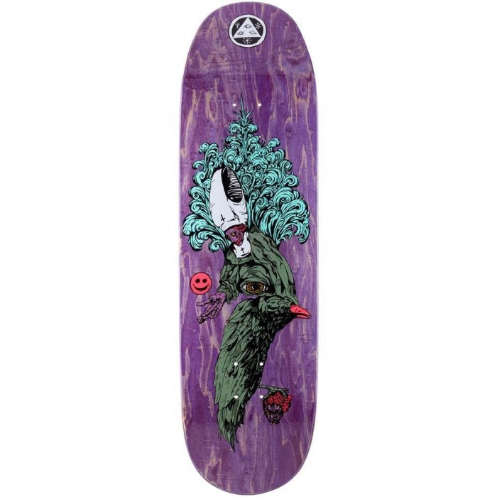 """Welcome Tonight I'm Yours Skateboard Deck Baculus Purple Stain 9"""""""