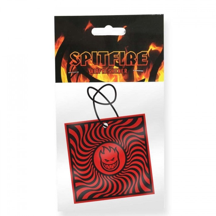 Spitfire Air Freshener Box Swirl Black Red