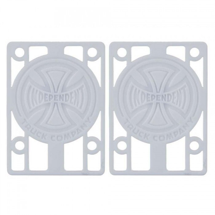 Indy Skateboard Riser Pads (Pack of 2) White 1/8""