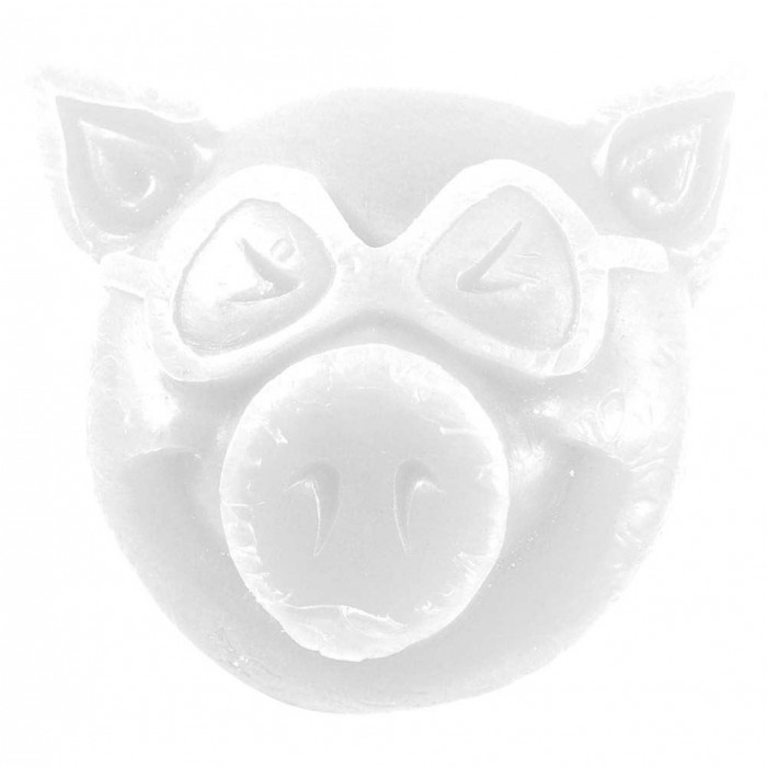 Pig Pig Head Skateboard Wax White