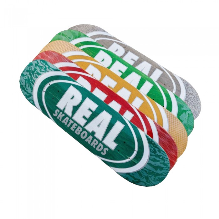 """Real Oval Patterns Team Series Skateboard Deck Assorted Colours 8.75"""""""
