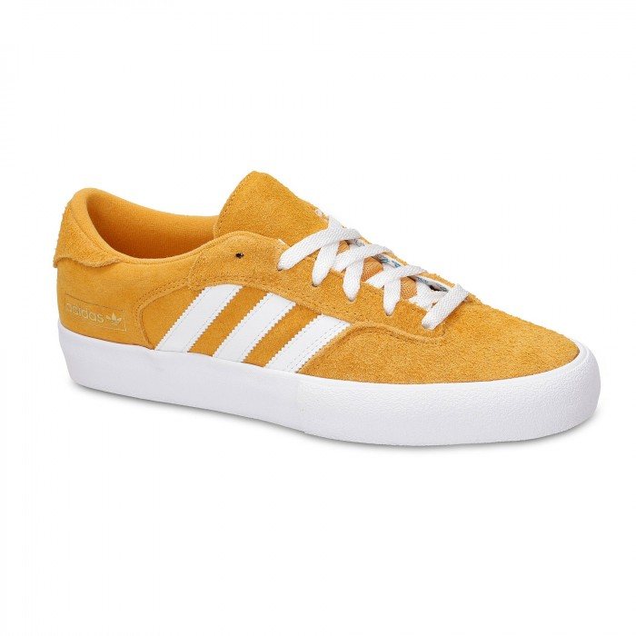 Adidas Skateboarding Matchbreak Super Tactile Yellow Feather White Gold Metallic Skate Shoes