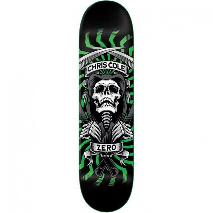Zero Skateboards Cole MMXX Skateboard Deck Black Green 8.25""