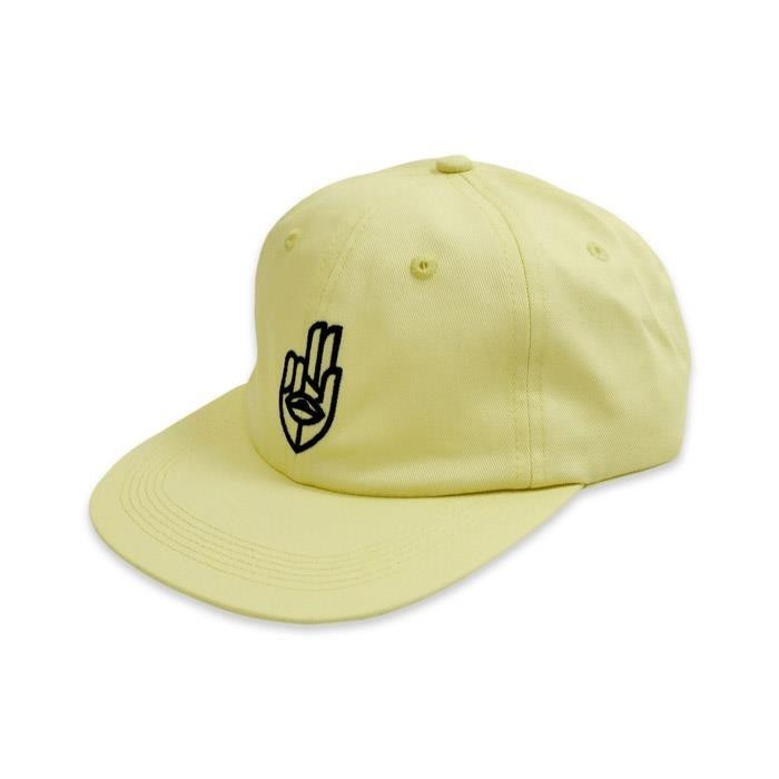 Jet Lag Brothers Two Finger Salute Hand Yellow Hat