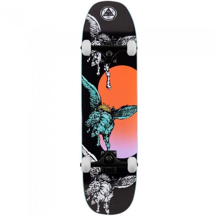 """Welcome Peggy Complete Skateboard Sone of Moontrimmer Black 8.25"""""""