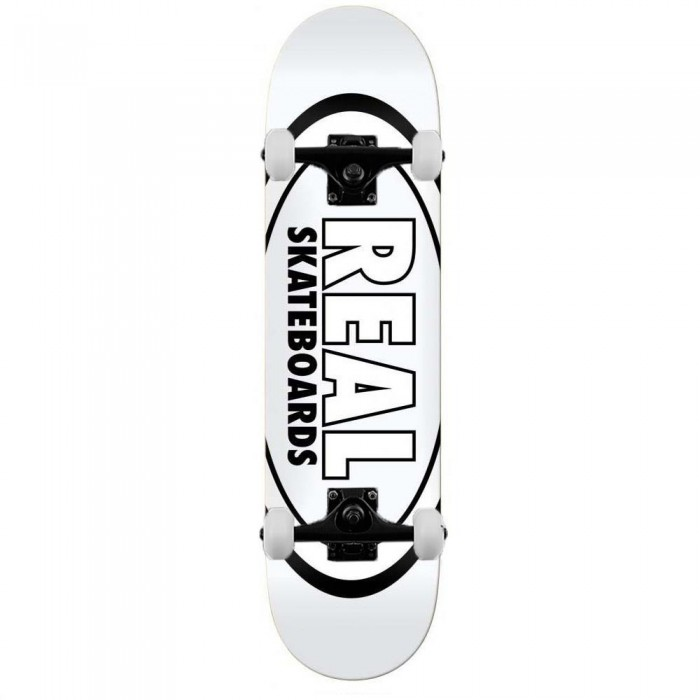 """Real Team Classic Oval Complete Skateboard White 8.38"""""""