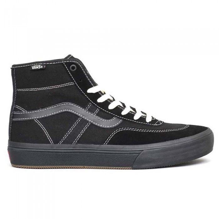 Vans Crockett High Pro Black Black Skate Shoes