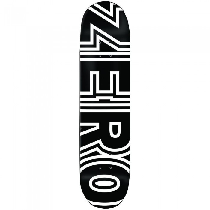 Zero Skateboards Bold Skateboard Deck Black 8.25""