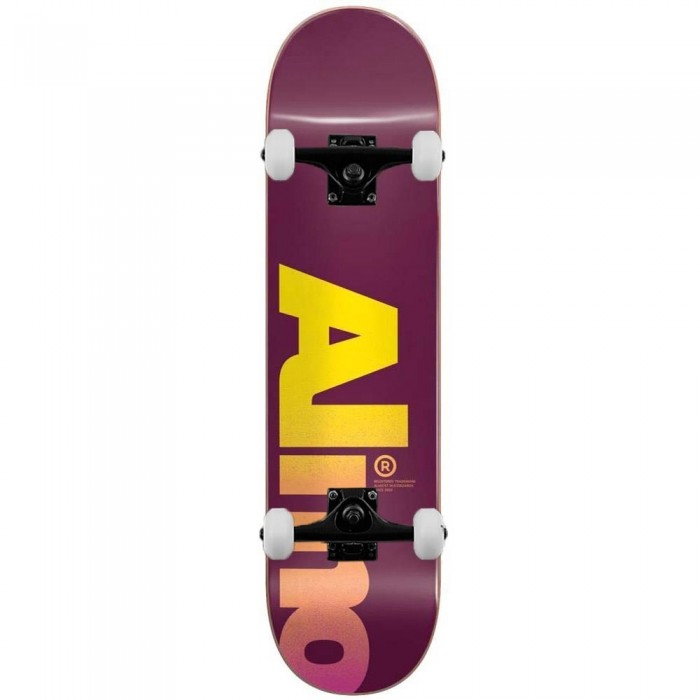 """Almost Fall Off Logo Complete Skateboard Magenta 8"""""""