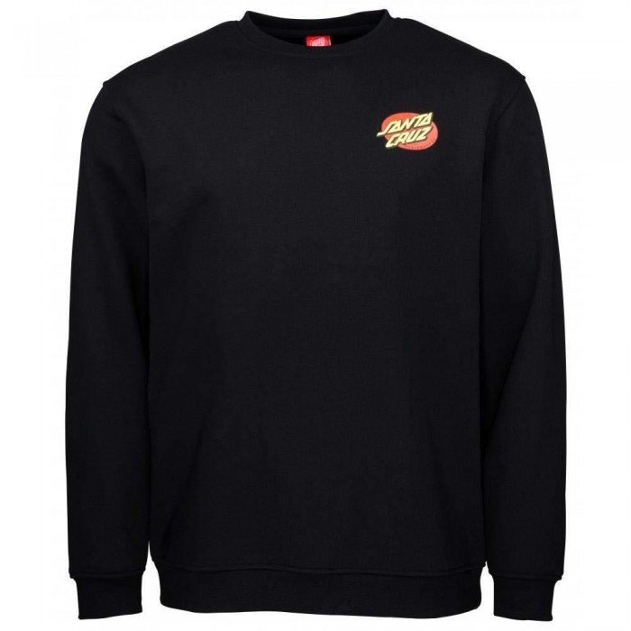 Santa Cruz Slashed Crewneck Sweatshirt Black