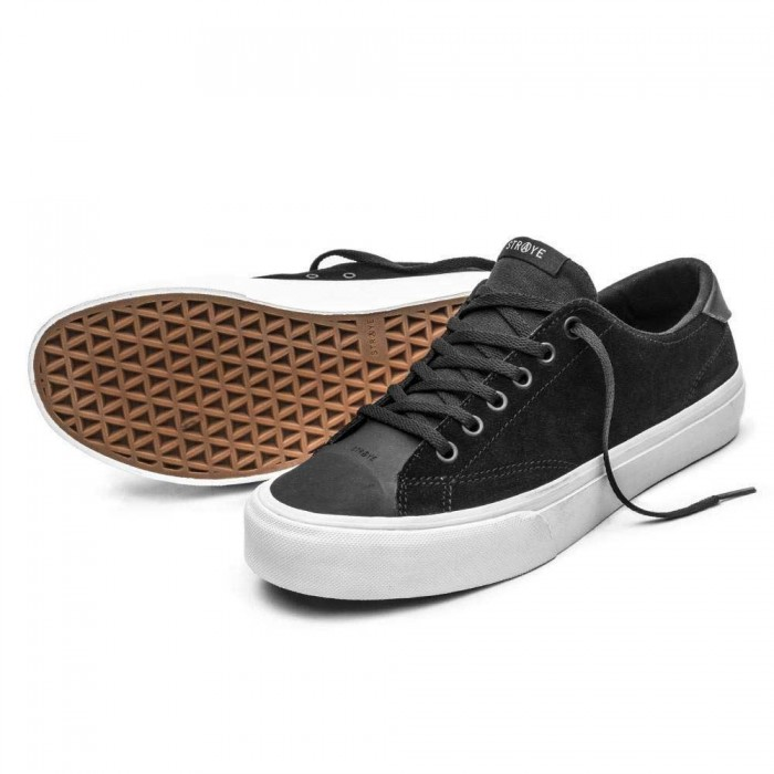 Straye Footwear Stanley Dixon Black Suede Skate Shoes
