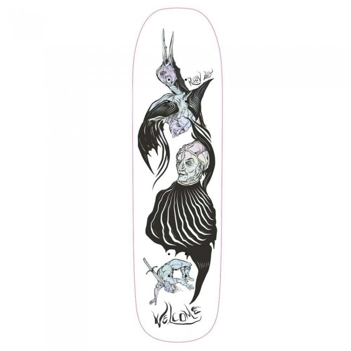 """Welcome Isobel Ryan Lay on Stonecipher Skateboard Deck White Prism Foil 8.6"""""""