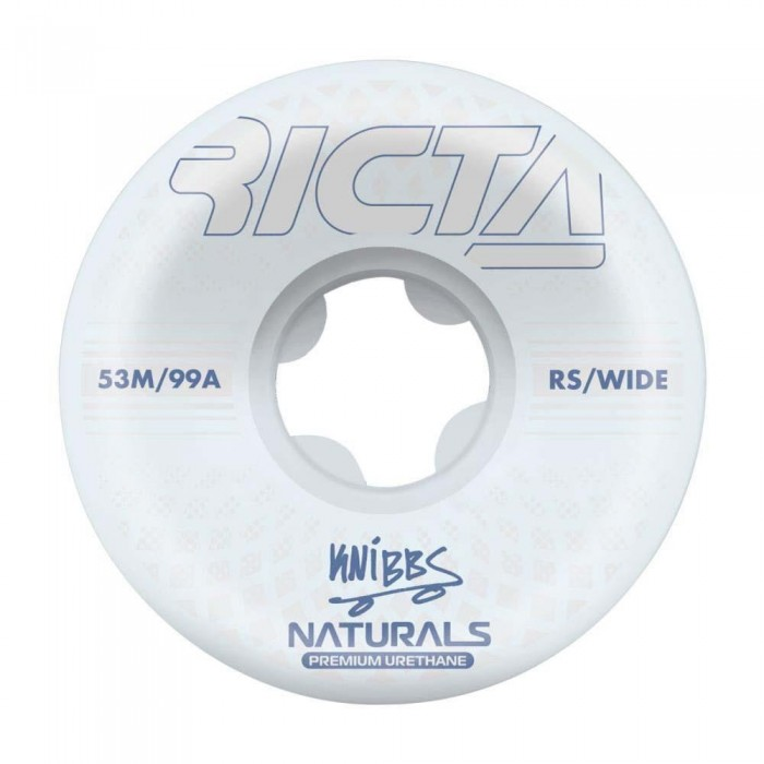 Ricta Knibbs Reflctive Natural Wide Skateboard Wheels 99a White 52mm