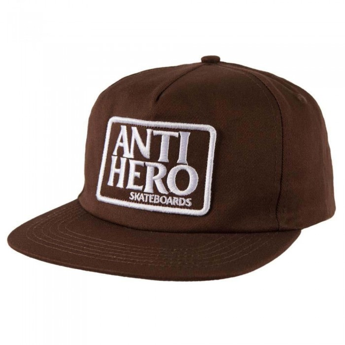 Anti Hero Reserve Patch Snapback Hat Brown White