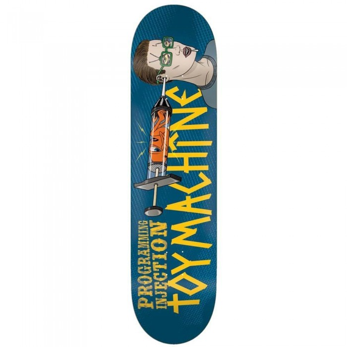 Toy Machine Programming Injection Skateboard Deck Blue 8.13""