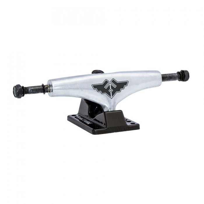 """Fracture Skateboards Undercarriage Trucks Wheels Bearings Bolts Black Raw 5.0"""""""