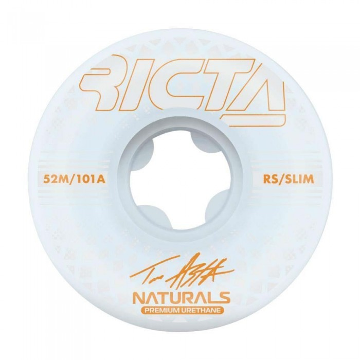 Ricta Asta Reflective Natural Slim Skateboard Wheels 101a White 52mm
