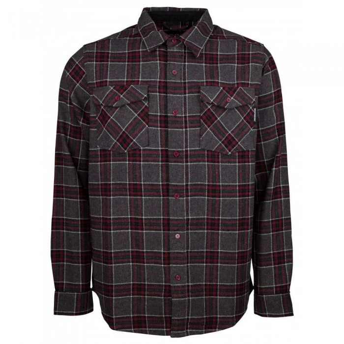 Independent Truck Co Hatchet Button Up Long Sleeved Shirt Oxblood Plaid