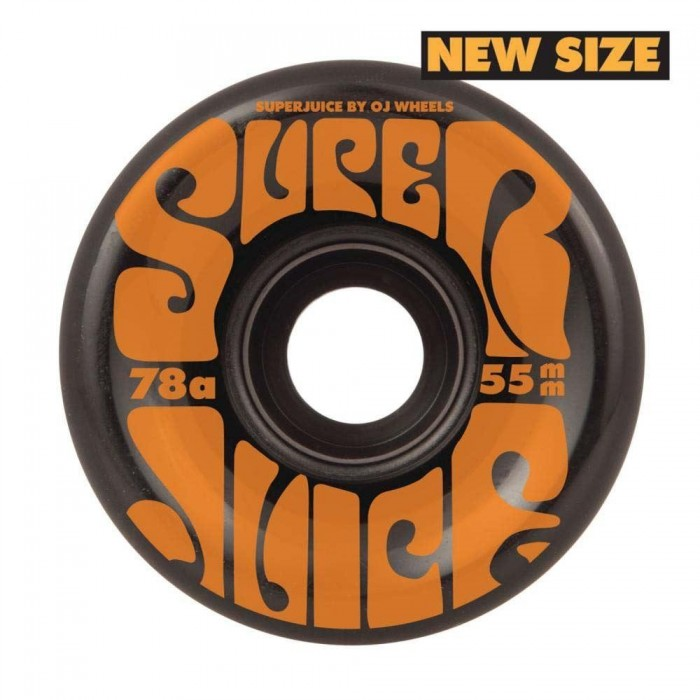 OJ Soft Mini Super Juice Skateboard Wheels 78a Black 55mm