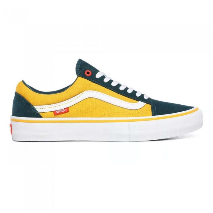 Vans Old Skool Pro Prime Atlantic Gold Skate Shoes