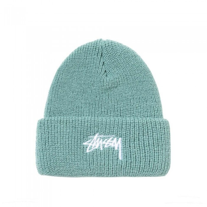 Stussy Stock Cuff Beanie Hat Fall 20 Green