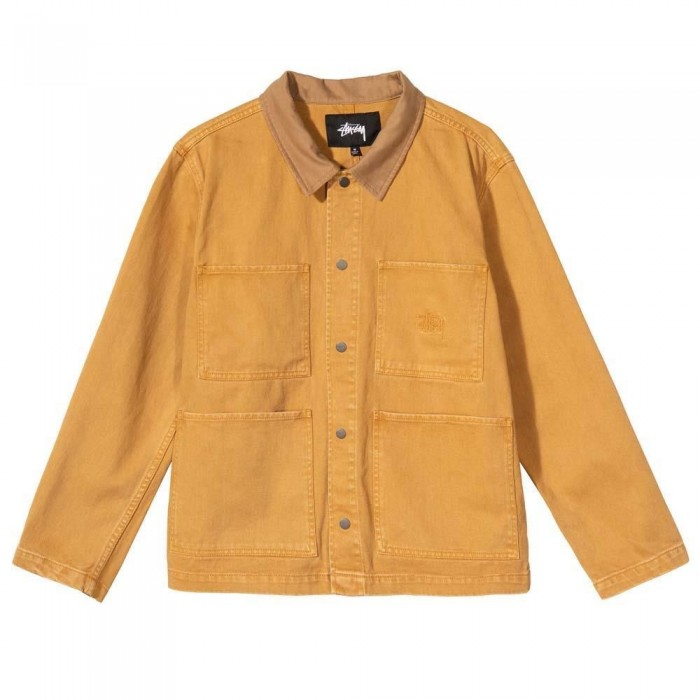 Stussy Washed Canvas Work Shirt Gold