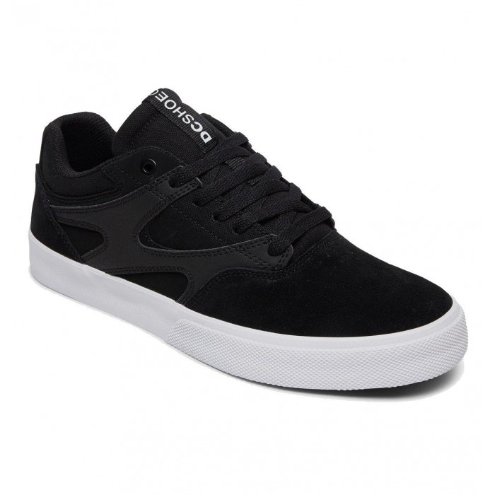 DC Shoe Co Kalis Vulc Black White Skate Shoes