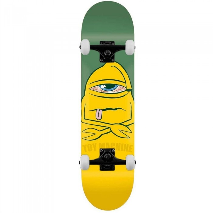 """Toy Machine Skateboards Bored Sect Complete Skateboard Green 7.75"""""""