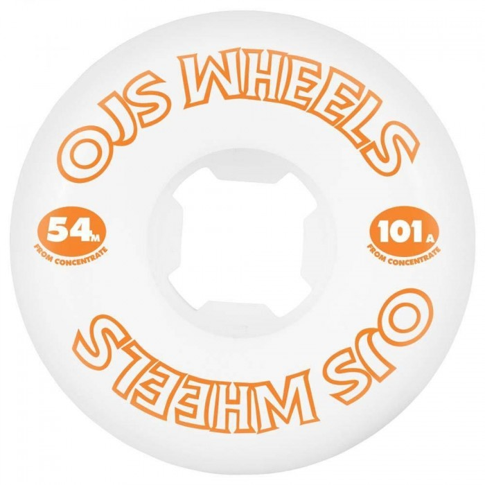 OJ Wheels From Concentrate Hardline Skateboard Wheels 101a White 54mm