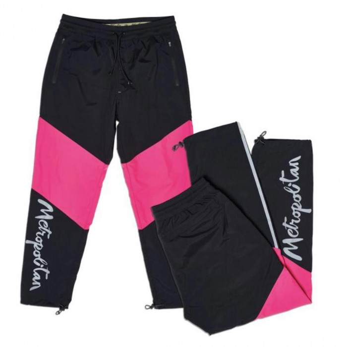 Adidas Skateboarding x Metropolitan 3L Taped Track Pants Black Real Magenta Yellow Tint