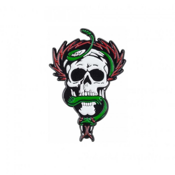 Powell Peralta McGill Skull and Snake Pin Badge White Green