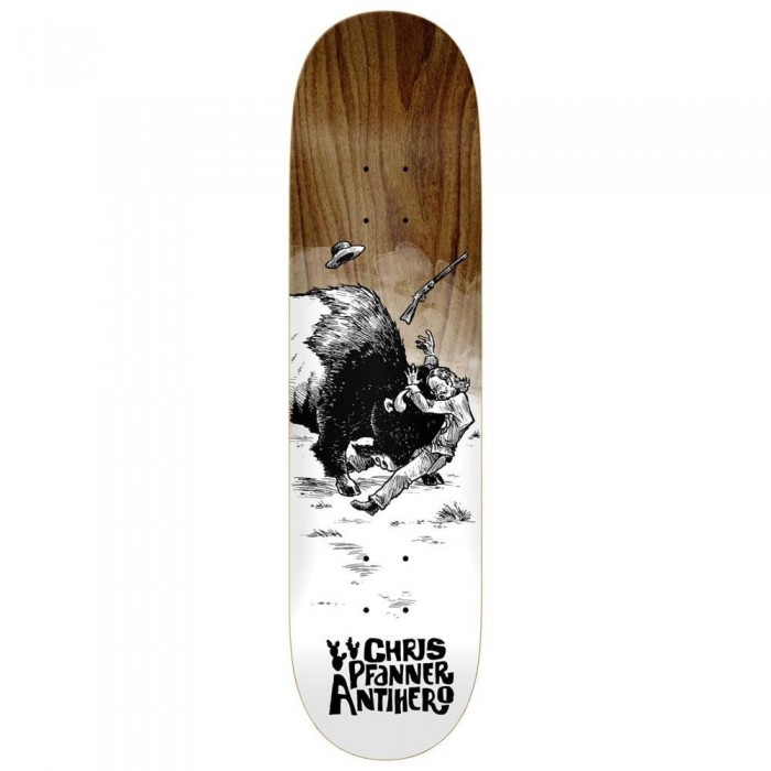 """Anti Hero Pfanner How The West Skateboard Deck Various Wood Stains 8.06"""""""