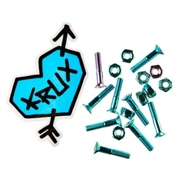 Krux Krome Skateboard Bolts Phillips Hardware Blue/Lavendar 1""