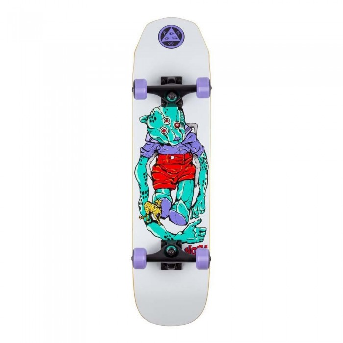 """Welcome Teddy Factory Complete Skateboard on Scaled Down Wicked Princess White 7.75"""""""