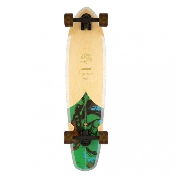 """Arbor Groundswell Mission Performance Factory Complete Skateboard Multi 35"""""""