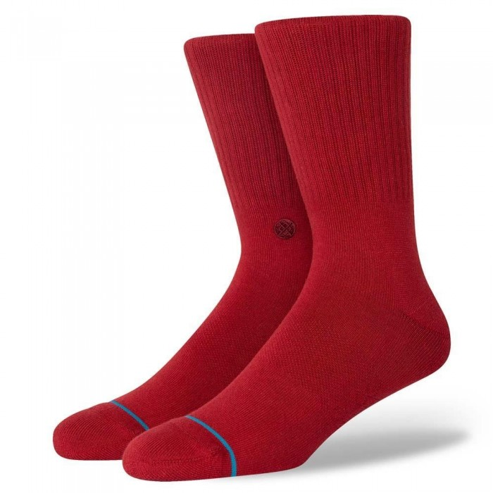 Stance Socks Icon Crimson