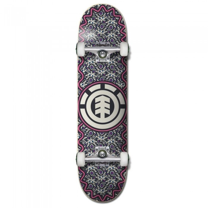 """Element Paisel Factory Complete Skateboard Grey 7.75"""""""